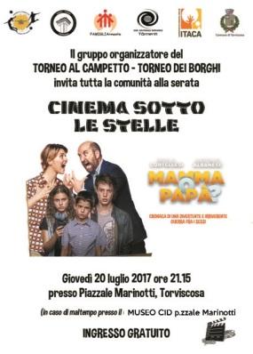 20 luglio Cinema sotto le stelle