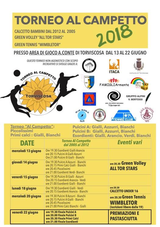 Locandina torneo campetto 2018